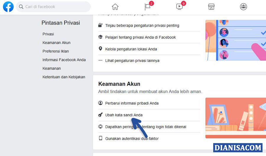 3 Ganti Kata Sandi Facebook Browser
