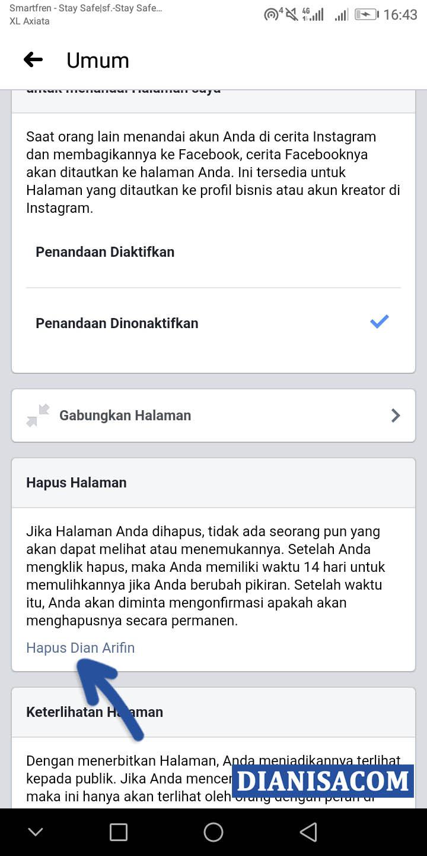 4 Hapus Halaman Facebook Smartphone
