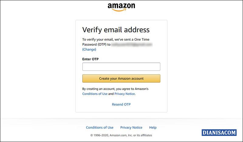 Kode OTP Amazon