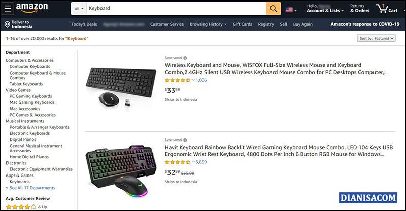 Memilih Barang Amazon
