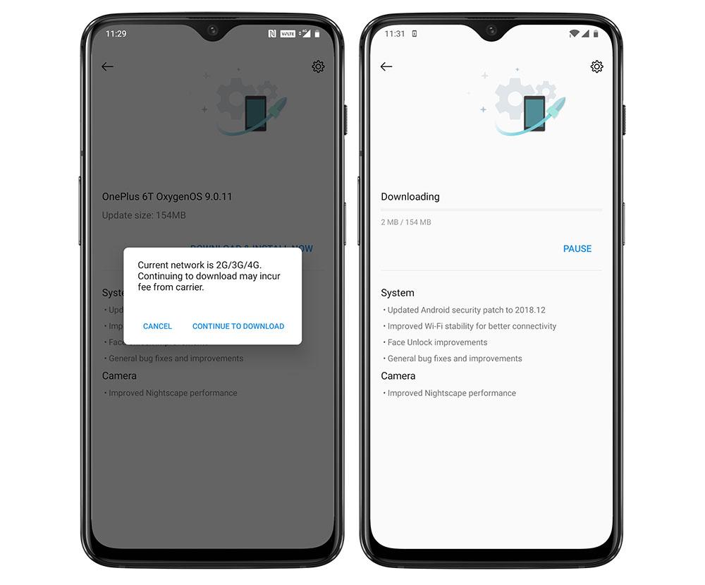 Update OS OnePlus secara Online
