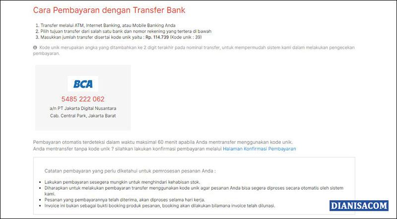 Cara Pembayaran Jakartanotebook