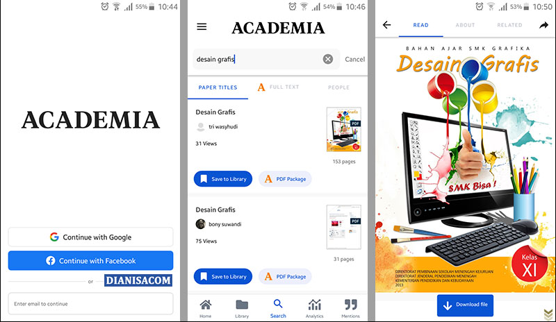 Download File Aplikasi Academia