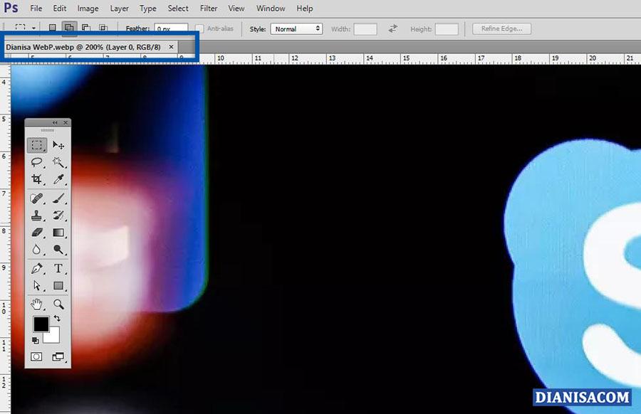 4 Buka Gambar WebP Photoshop