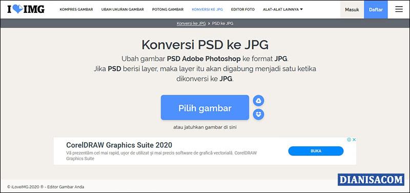 Mengkonversi PSD ke JPG iLoveIMG