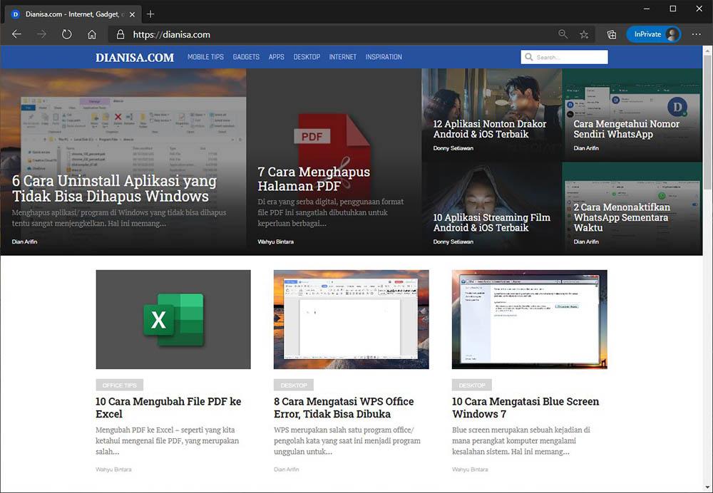 Gunakan browser lain