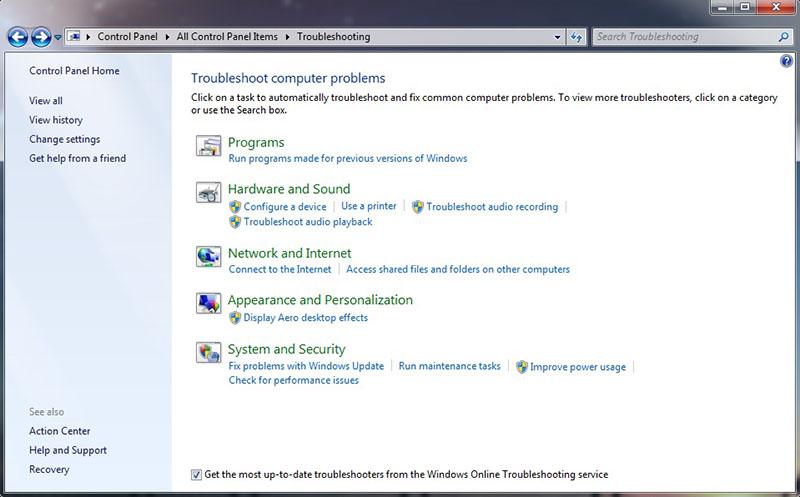 Menggunakan Windows Troubleshooter