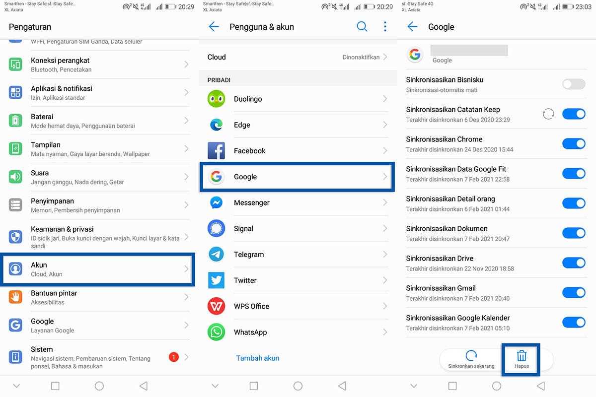 Cara Logout Akun Google HP Android