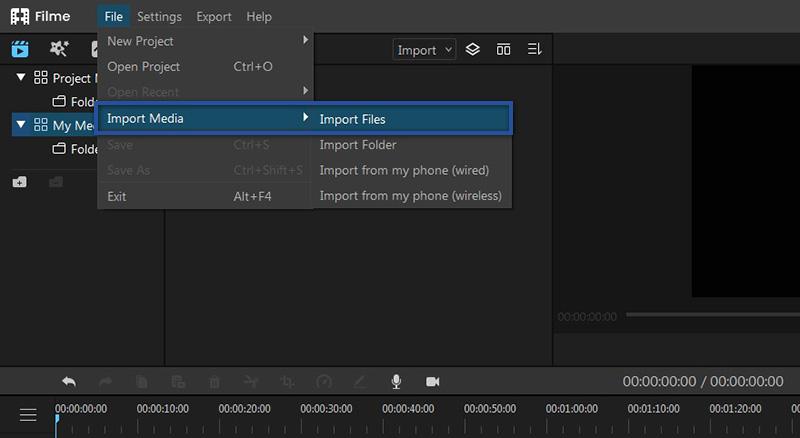 Import Video Filme
