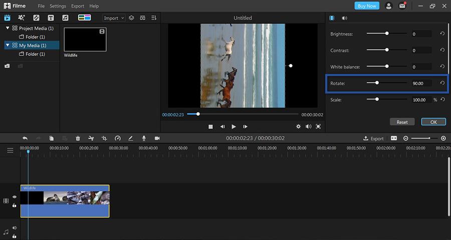 Mengatur Rotasi Video Filme
