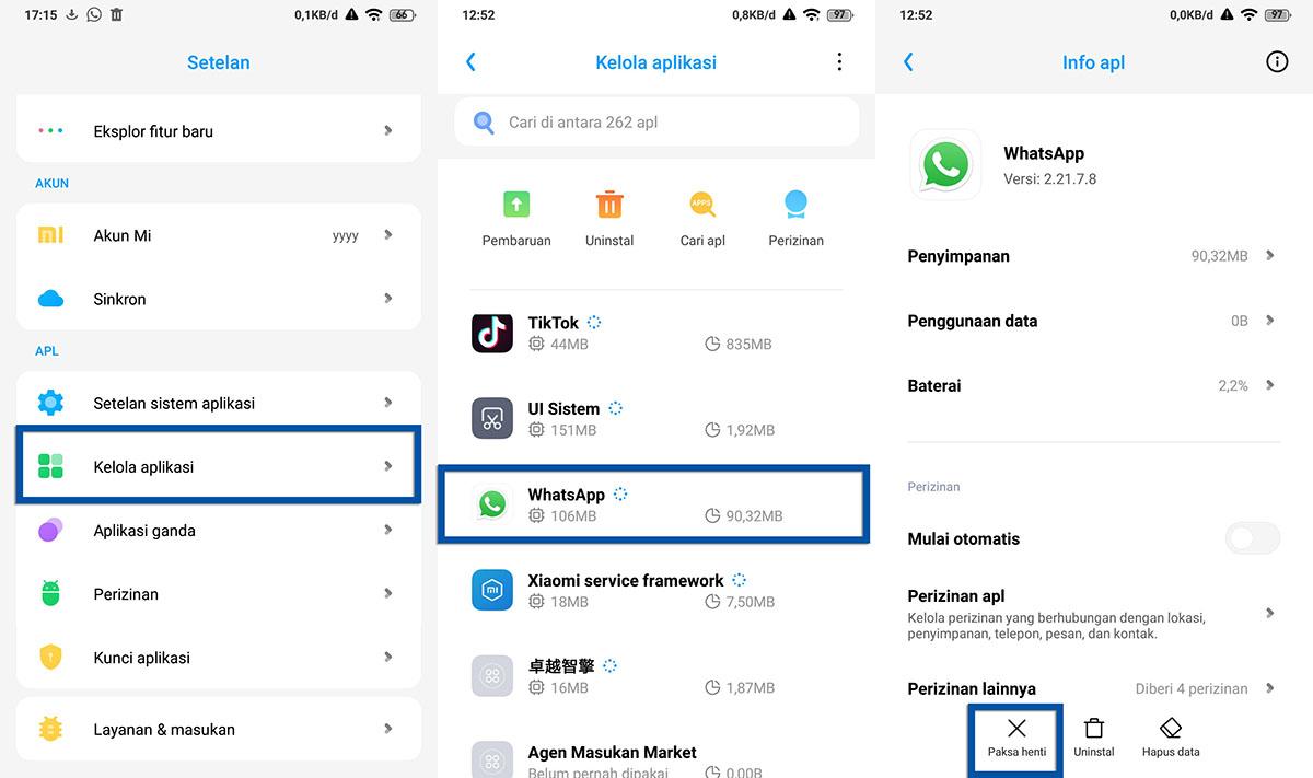 Tutup Paksa Aplikasi Xiaomi