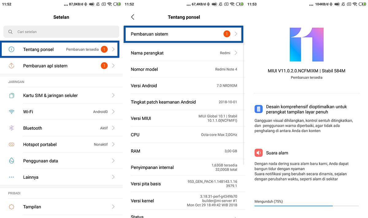 Update MIUI Xiaomi