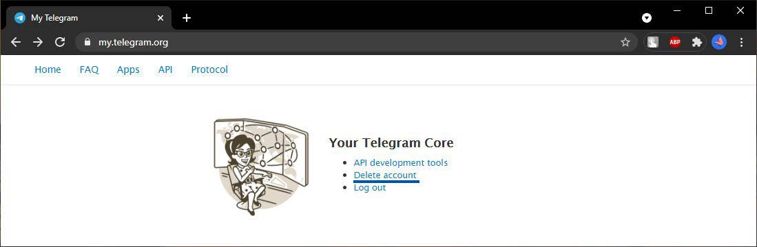 3 Pilih Delete Account Telegram