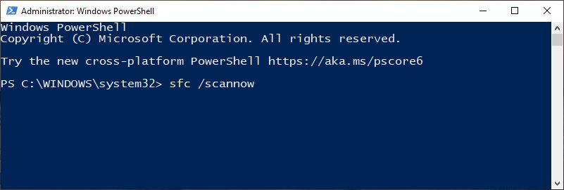 SFC Windows Powershell