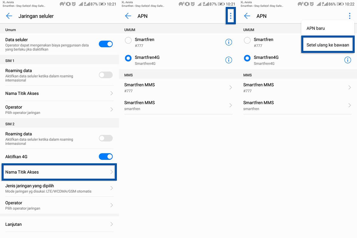 Setel Ulang APN Android