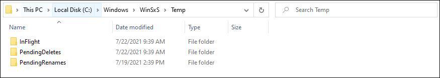 Folder Temp SFC