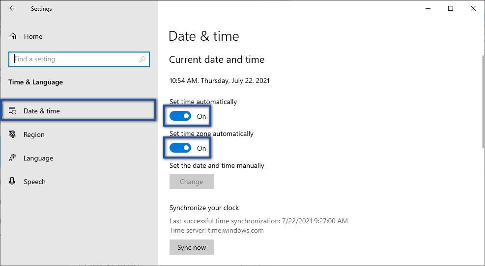 Mengatur Date & Time Windows