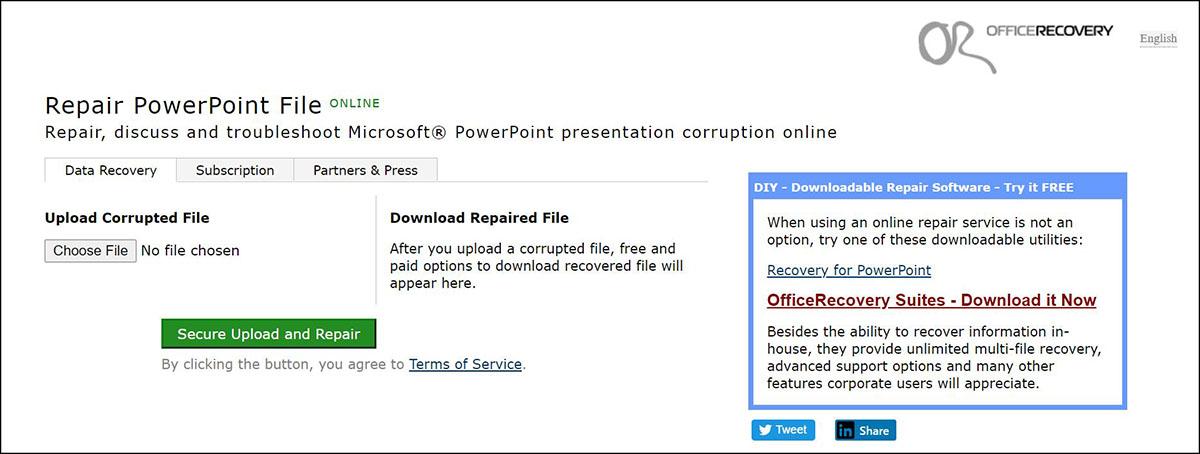 Repair file ppt online