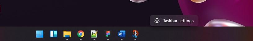 1 Buka Taskbar settings Windows 11
