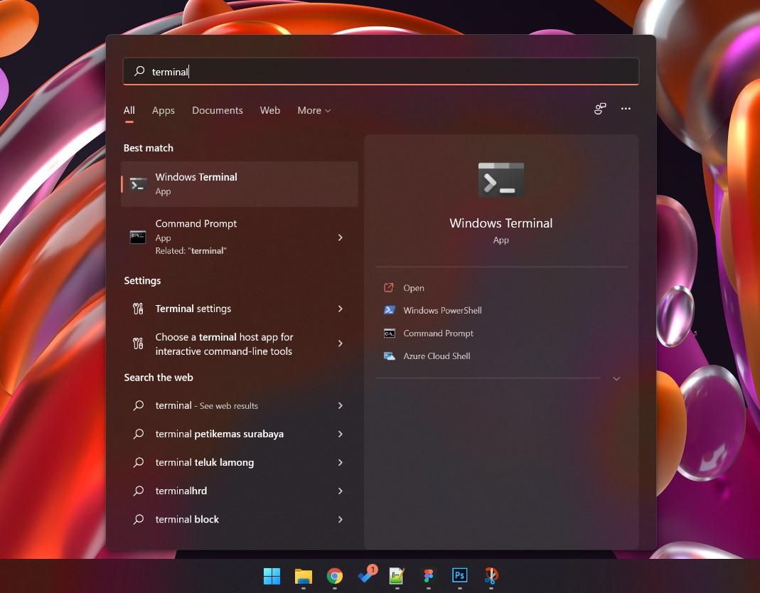 1 Buka terminal Windows 11