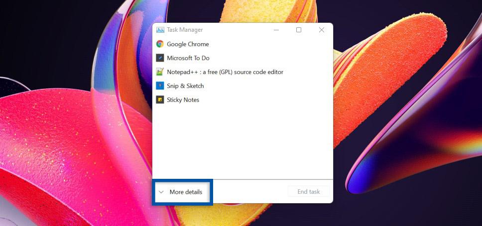 2 Klik more details Task Manager