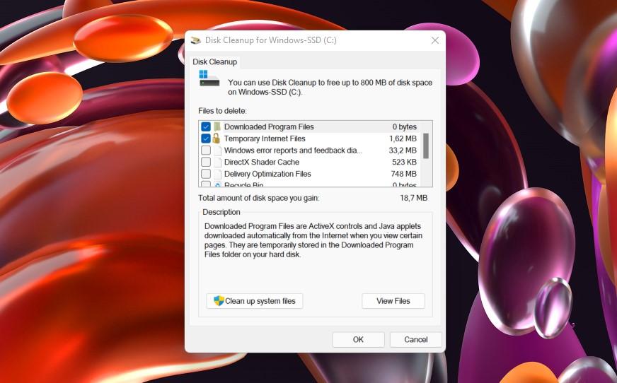 3 Centang kategori file yang ingin dihapus