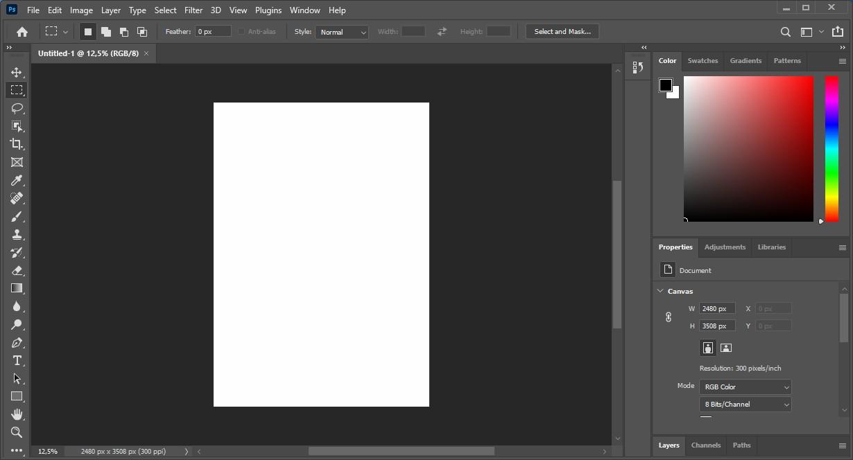 3 Tampilan Adobe Photoshop