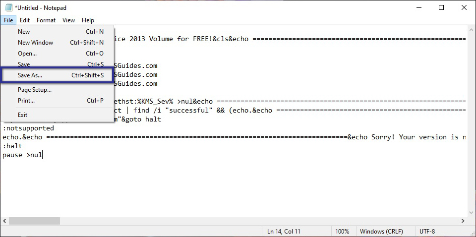 Activator Notepad Office 2013
