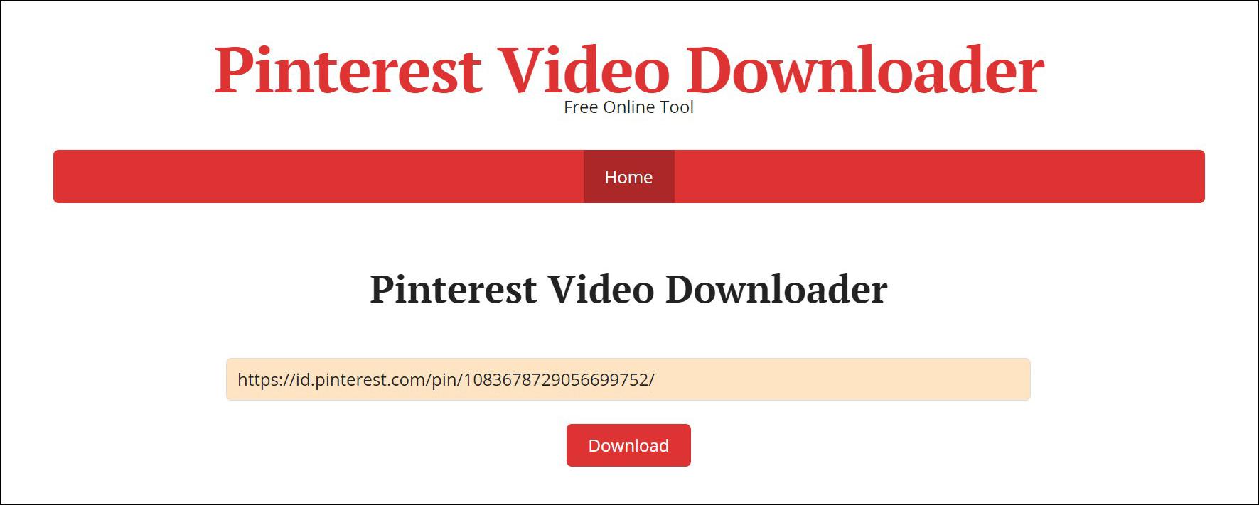 1 Buka halaman Pinterest Video Downloader