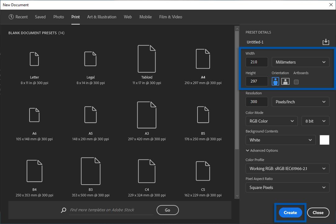 2 Atur ukuran kertas A2 Adobe Photoshop
