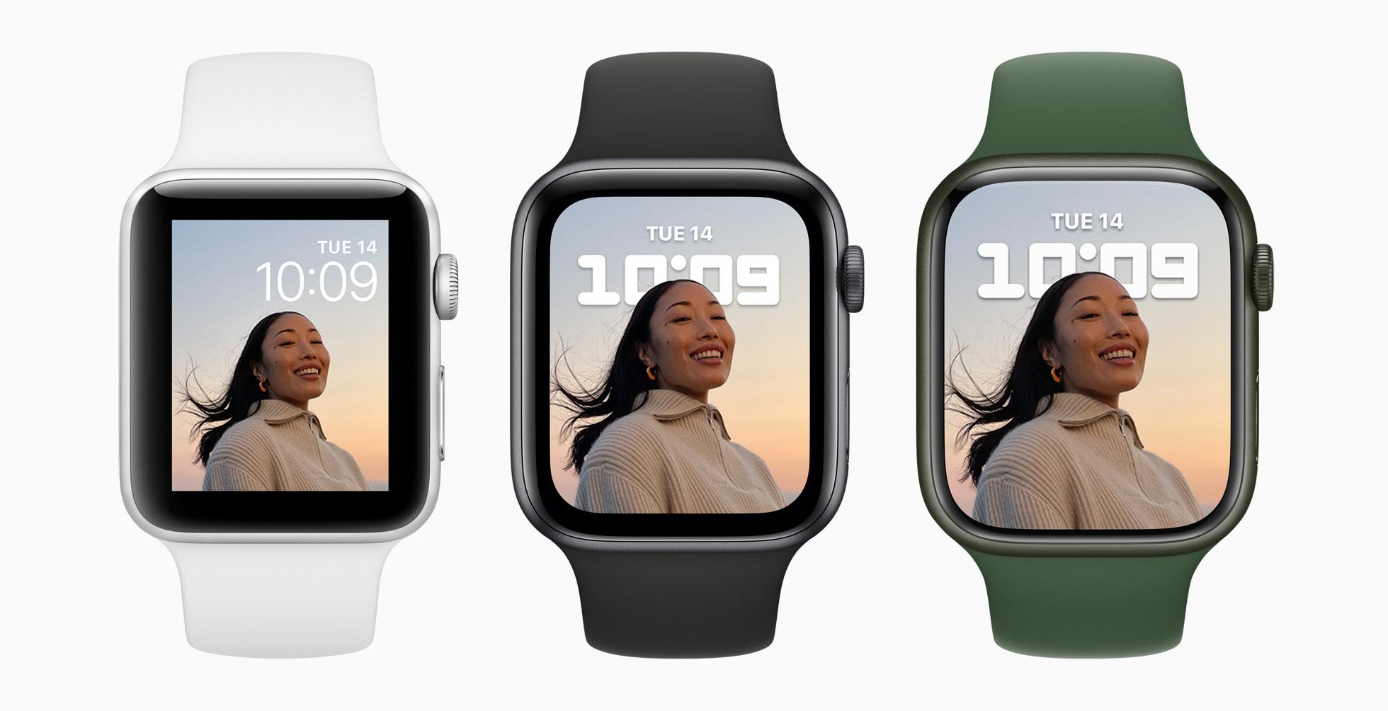 Desain dan antarmuka Apple Watch Series 7