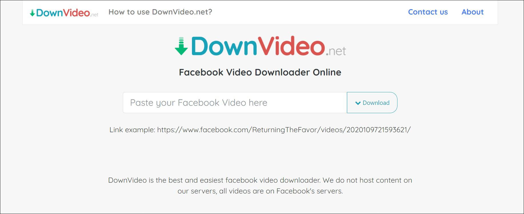 1 Buka situs DownVideo
