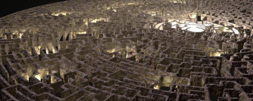 A circular maze