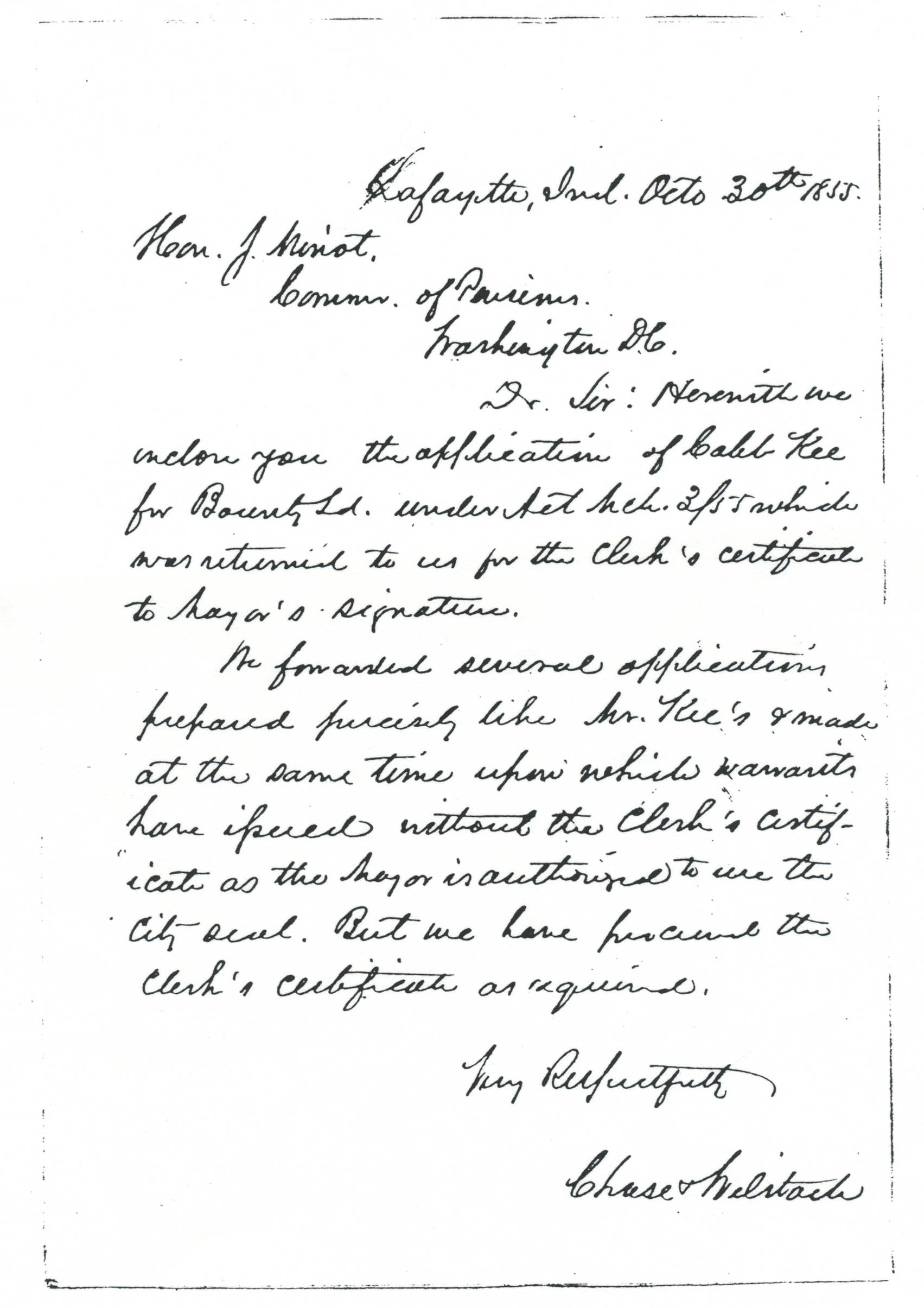 Caleb Kee Key War Of Pension File From East To West