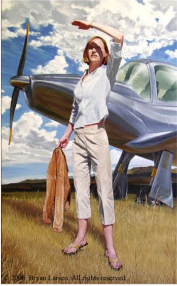 Bryan Larsen, Born with Wings, copyright (c) 2006. Photo: http://cordair.com/artists/larsen/works/born-with-wings/index.html