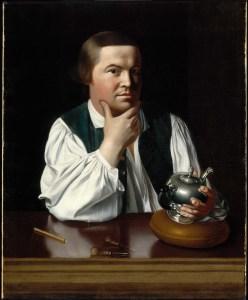 John Singleton Copley, Paul Revere, 1768. Boston, Museum of Fine Arts.