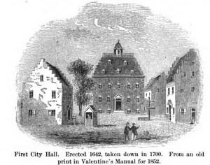 City Hall, ca. 1542-1700 19th-century rendition).
