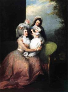John Trumbull, Angelica Schuyler Church, Her Son Philip, and a Servant, 1785. Private collection. Photo: Wikipedia.