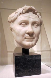 Head of Pompey in the Pergamon exhibition at the Metropolitan Museum of Art. Photo: Dianne L. Durante