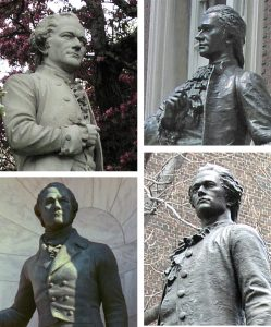 NYC sculptures of Alexander Hamilton
