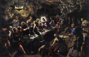 Tintoretto, Last Supper, 1592-94. Venice, San Giorgio Maggiore. Photo: Wikipedia.