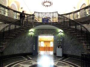 Staircase to the banking hall of 48 Wall St. Photo copyright (c) 2016 Dianne L. Durante
