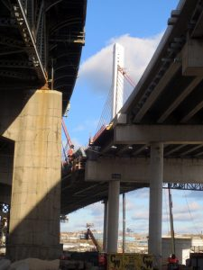 Kosciuszko Bridge under construction, December 3, 2016. Photo copyright (c) 2016 Dianne L. Durante