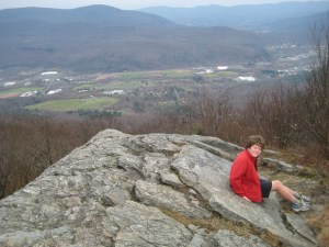 View from the summit of Spruce Hill, with Mount Greylock in the background.