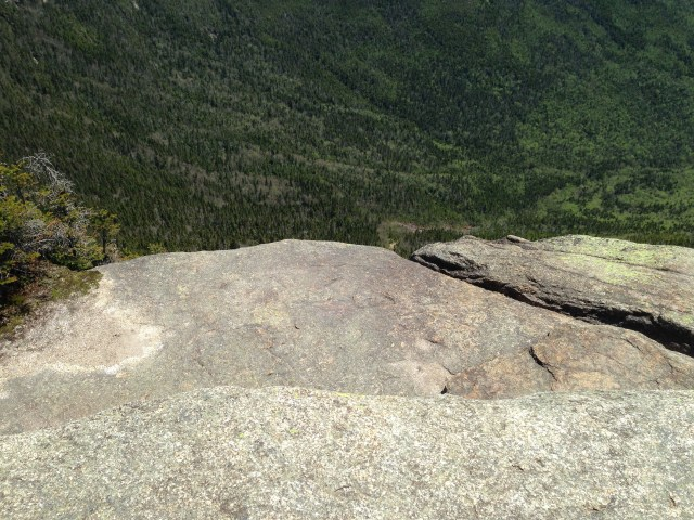 Did Captain Willard and his command of 20 men look over the edge of this granite cliff back in 1725?