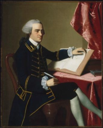 John was about 28 in this 1765 portrait by John Singleton Copley, and recently had inherited his uncle's business.  I highly recommend coming face-to-face with the painting at Boston's Museum of Fine Arts.  Both John and the painting are stunning.