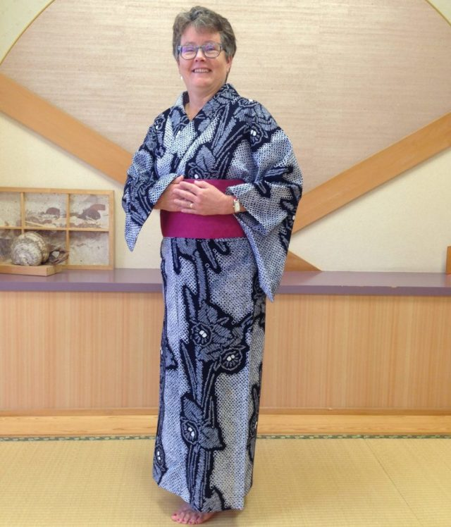 In Oirase, Japan, I visited a class at a community center where women gathered each week to learn or polish their skills in wearing a kimono, once everyday wear but now mostly reserved for weddings and other big events. Except in Kyoto, where we saw many young women and men and women out strolling in kimonos or summer yukatas.