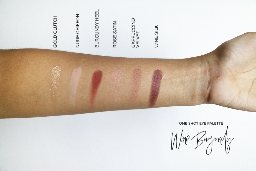 ONE SHOT EYE PALETTE WINE BURGUNDY