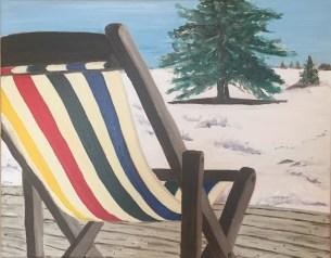 "Saskatoon Spring (2016) - 16x20"", oil on canvas (sold)"