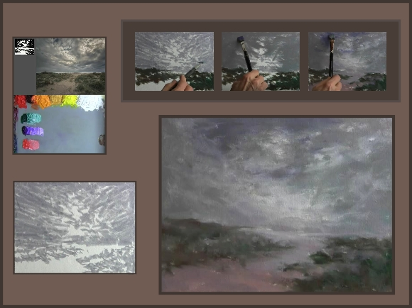 Painting on a cloudy day
